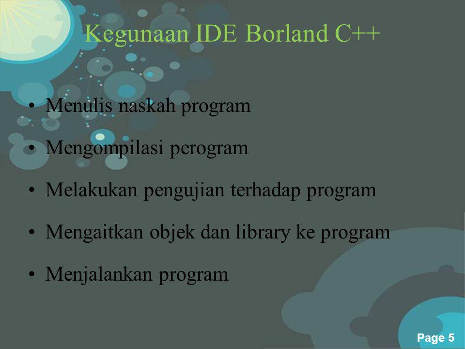 Kegunaan IDE Borland C++
