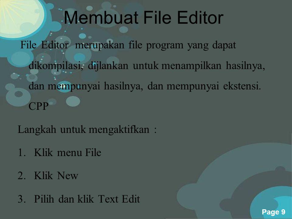Membuat File Editor