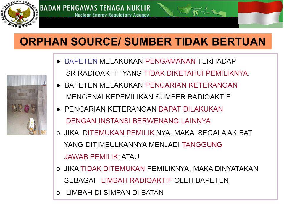 ORPHAN SOURCE/ SUMBER TIDAK BERTUAN