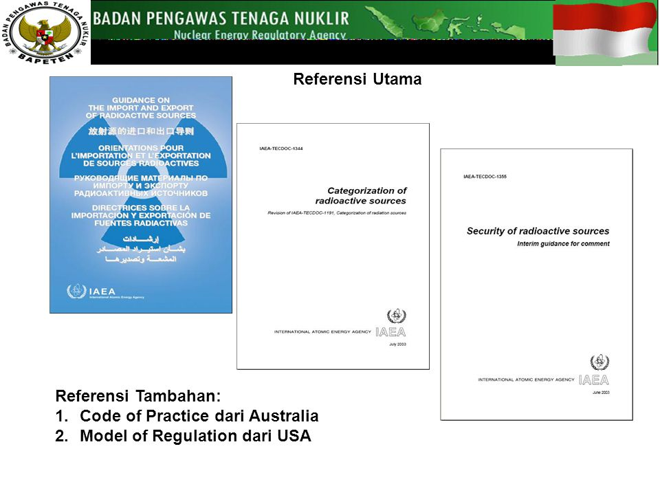 Code of Practice dari Australia Model of Regulation dari USA