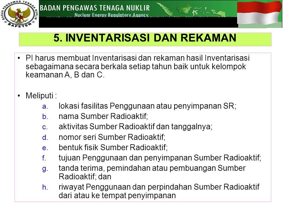 5. INVENTARISASI DAN REKAMAN