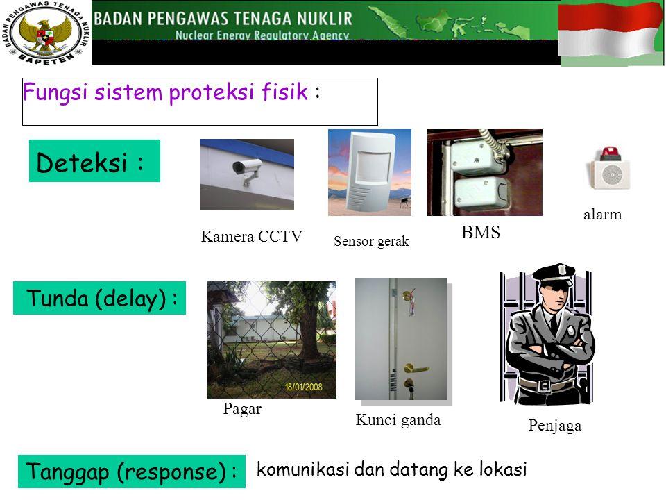 Deteksi : Fungsi sistem proteksi fisik : Tunda (delay) :
