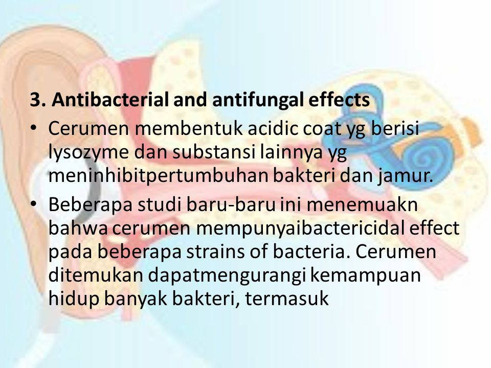 3. Antibacterial and antifungal effects