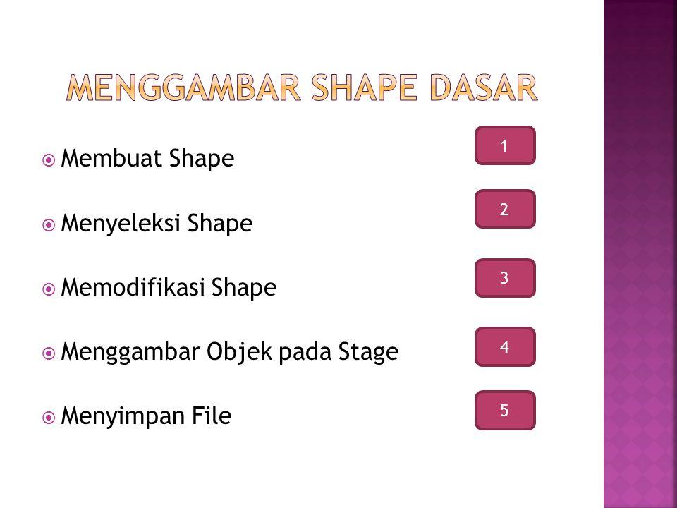 Menggambar shape dasar