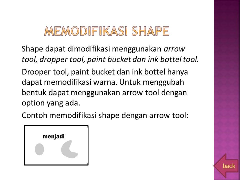 Memodifikasi shape