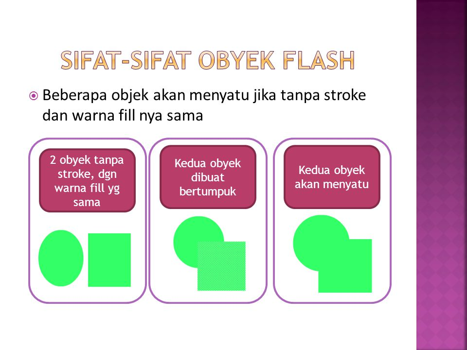 Sifat-sifat obyek flash