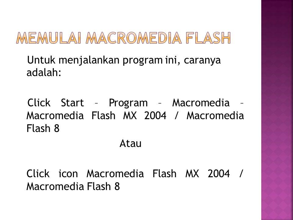 Memulai Macromedia flash