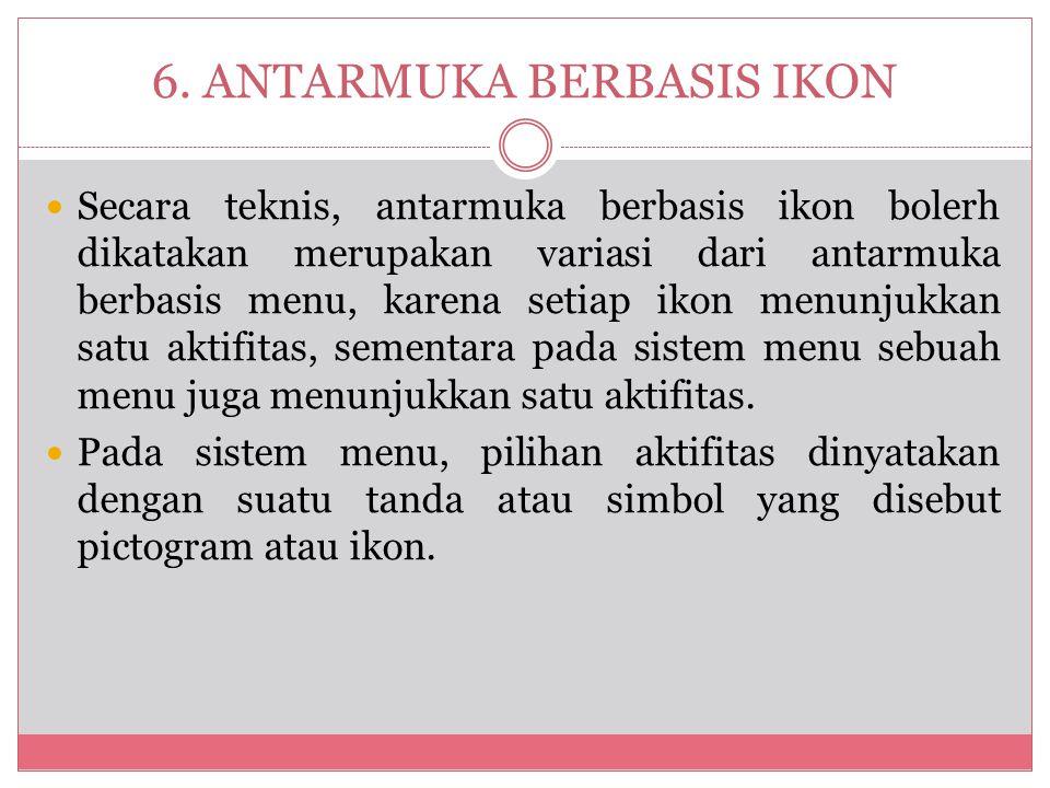 6. ANTARMUKA BERBASIS IKON