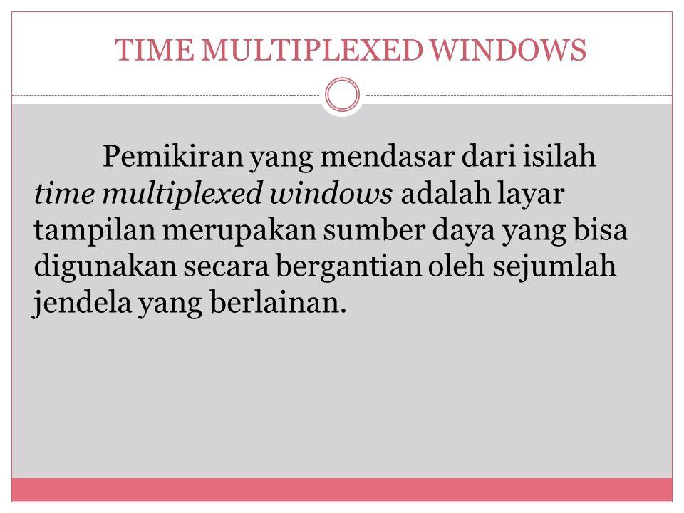 TIME MULTIPLEXED WINDOWS