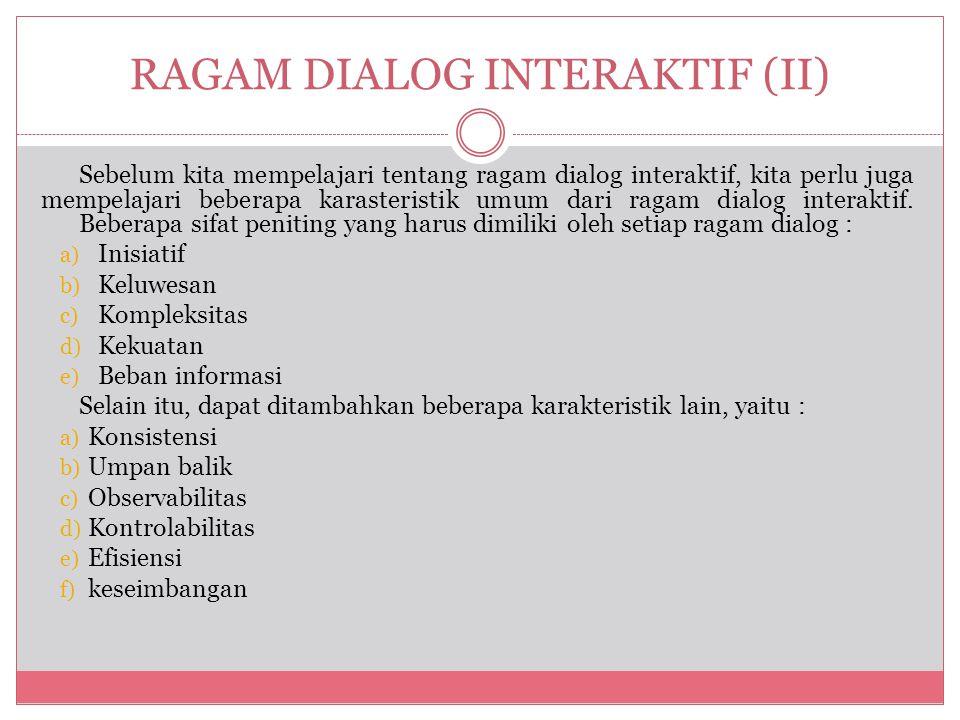 RAGAM DIALOG INTERAKTIF (II)