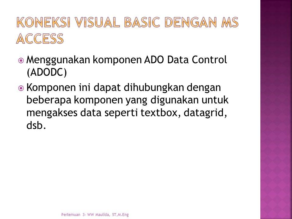 Koneksi visual basic dengan Ms access