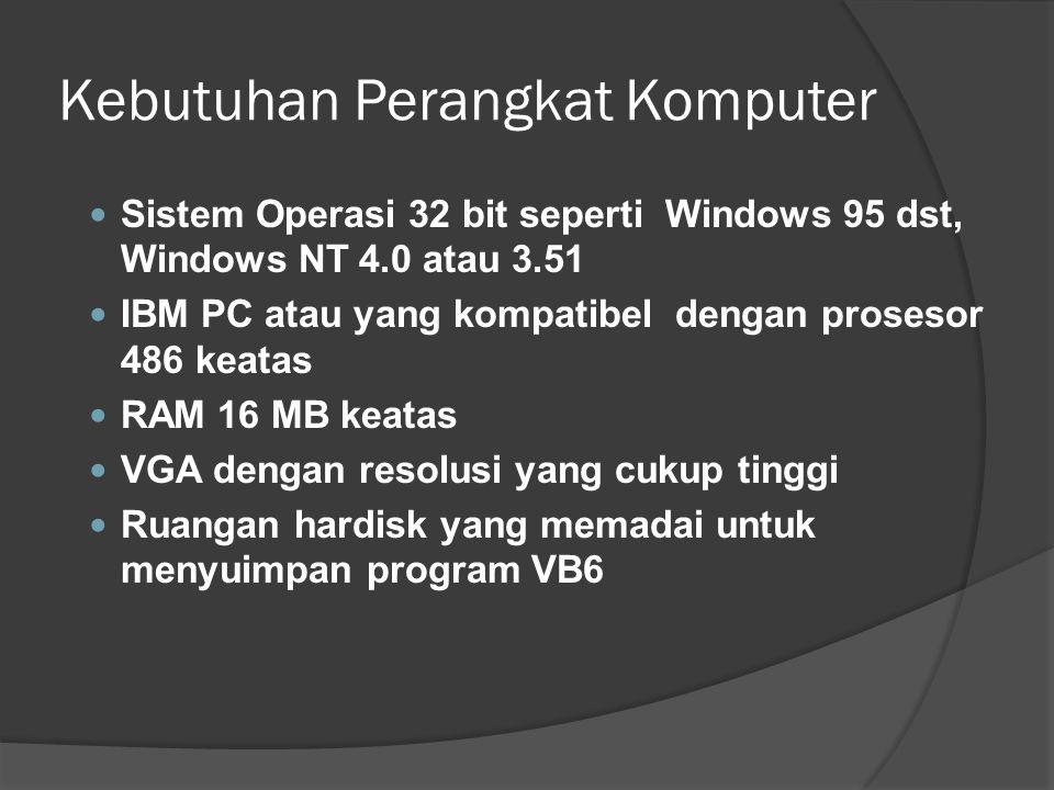 Kebutuhan Perangkat Komputer