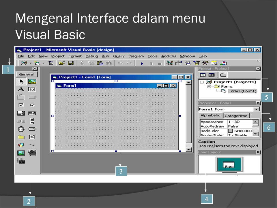 Mengenal Interface dalam menu Visual Basic