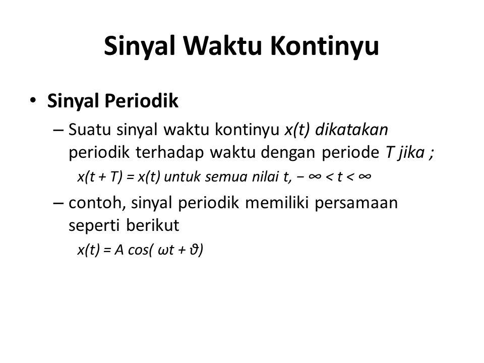 Sinyal Waktu Kontinyu Sinyal Periodik