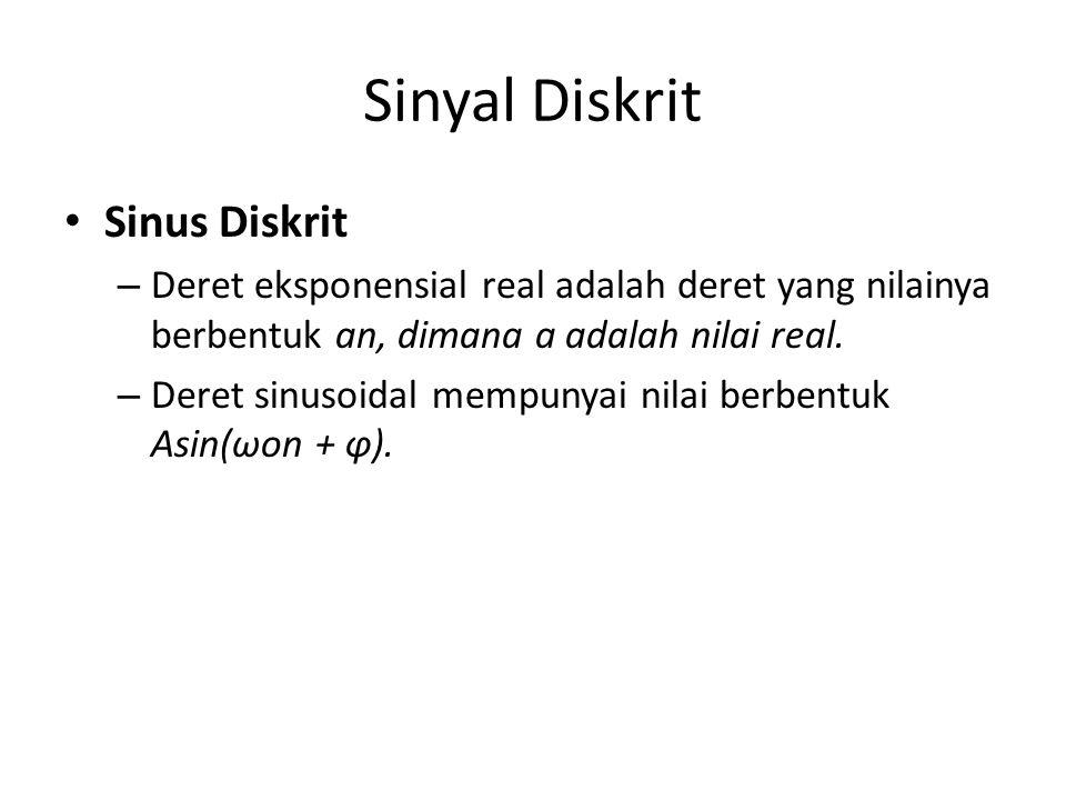Sinyal Diskrit Sinus Diskrit