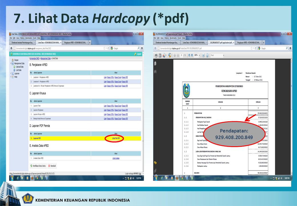 7. Lihat Data Hardcopy (*pdf)