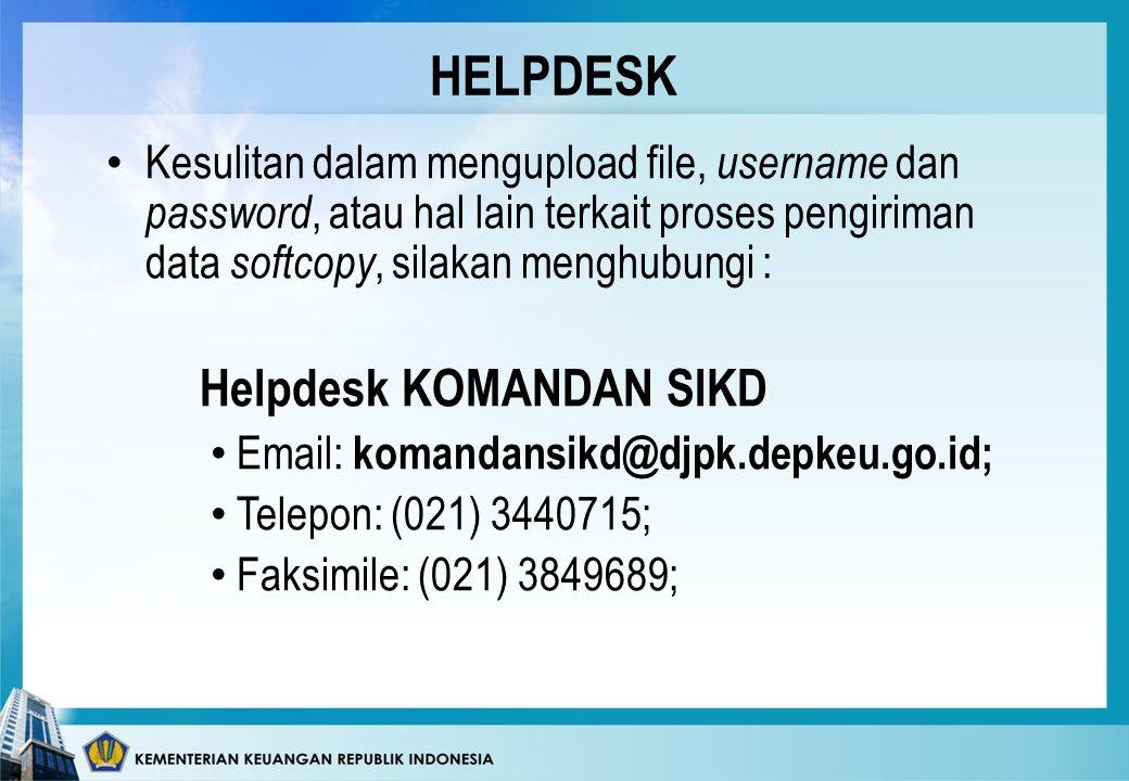 HELPDESK Helpdesk KOMANDAN SIKD