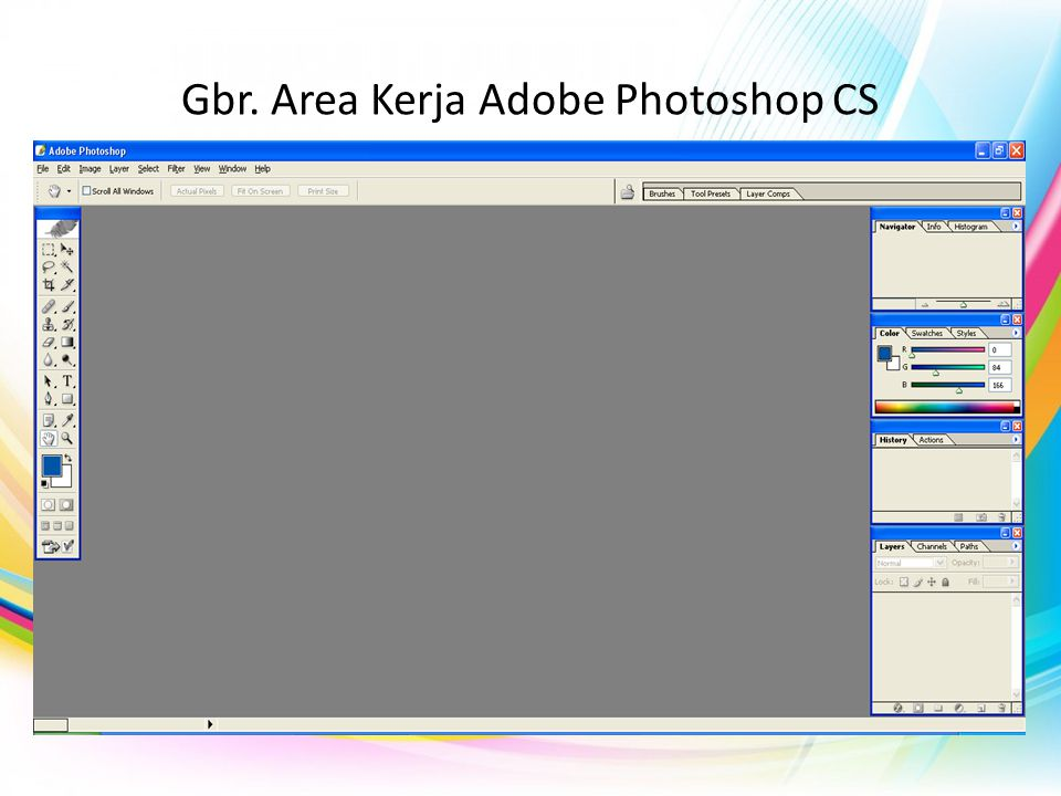 Gbr. Area Kerja Adobe Photoshop CS