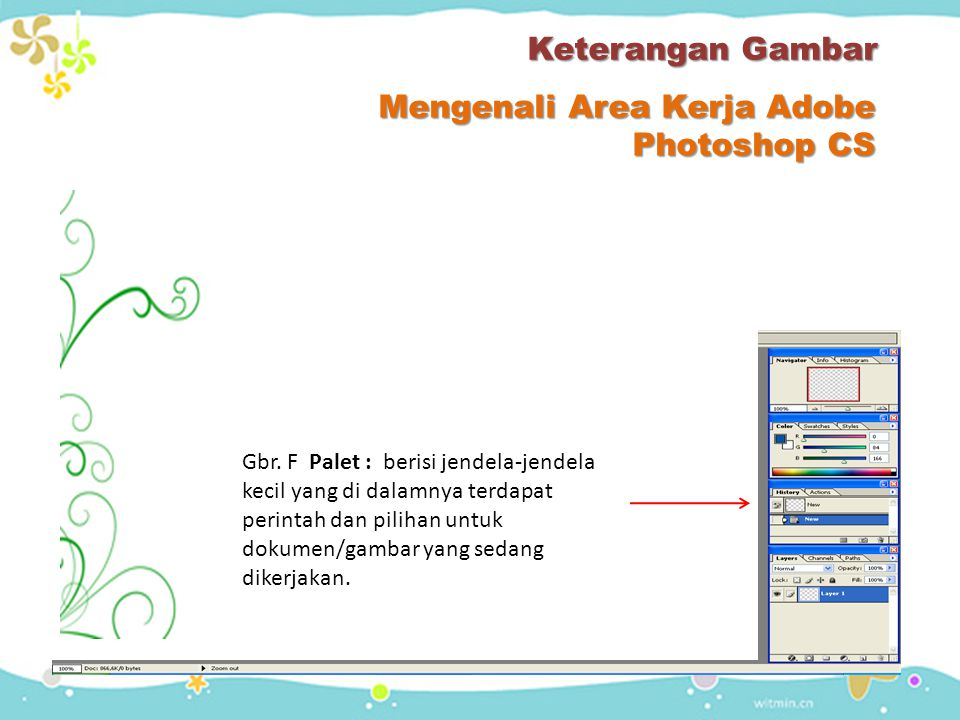 Mengenali Area Kerja Adobe Photoshop CS