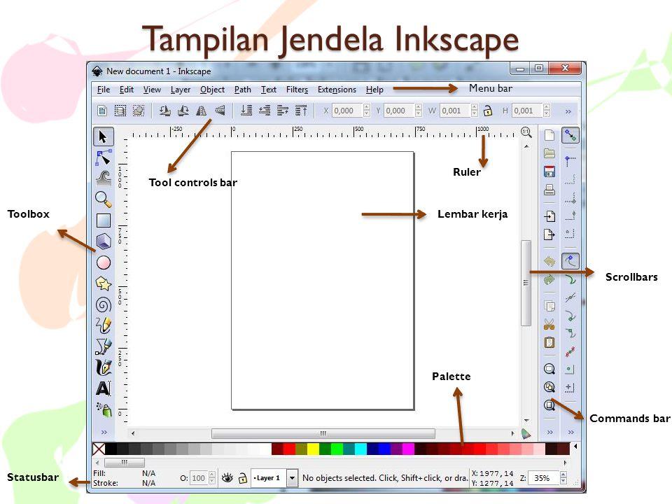 Tampilan Jendela Inkscape