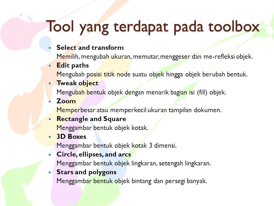 Tool yang terdapat pada toolbox