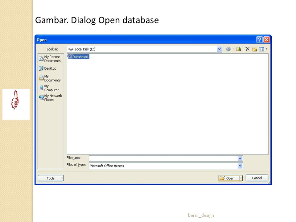 Gambar. Dialog Open database