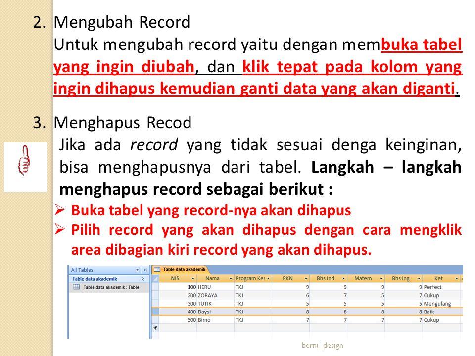 Mengubah Record