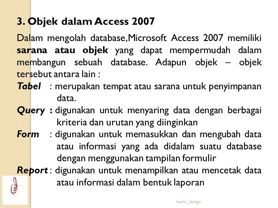 3. Objek dalam Access 2007
