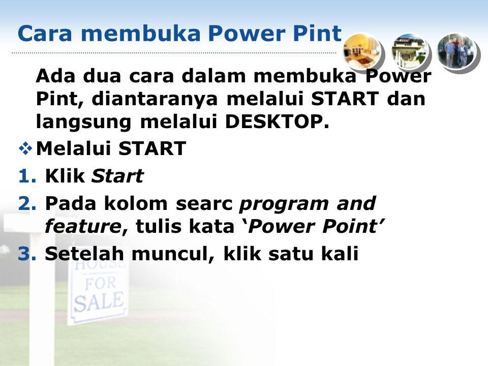 Cara membuka Power Pint