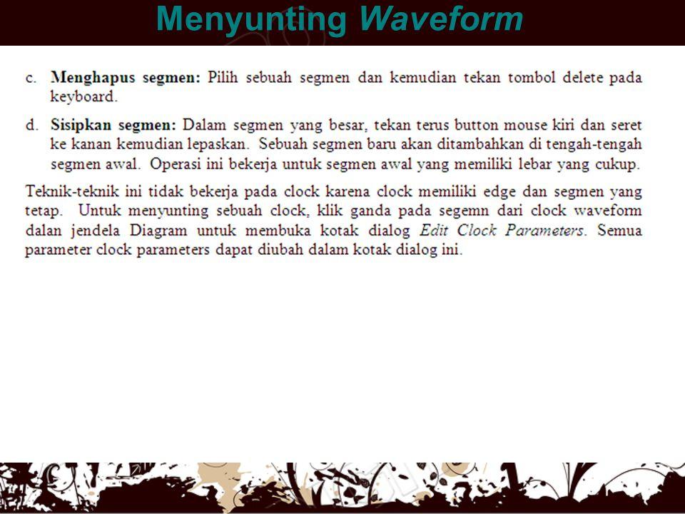 Menyunting Waveform