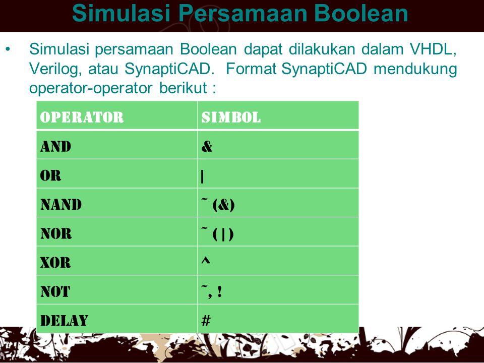 Simulasi Persamaan Boolean