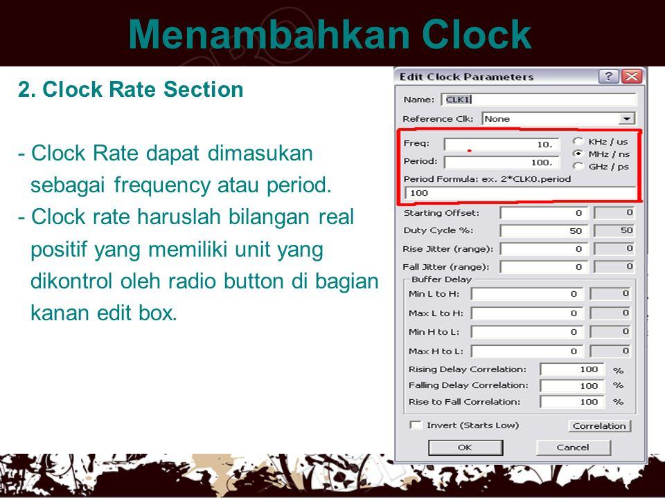Menambahkan Clock