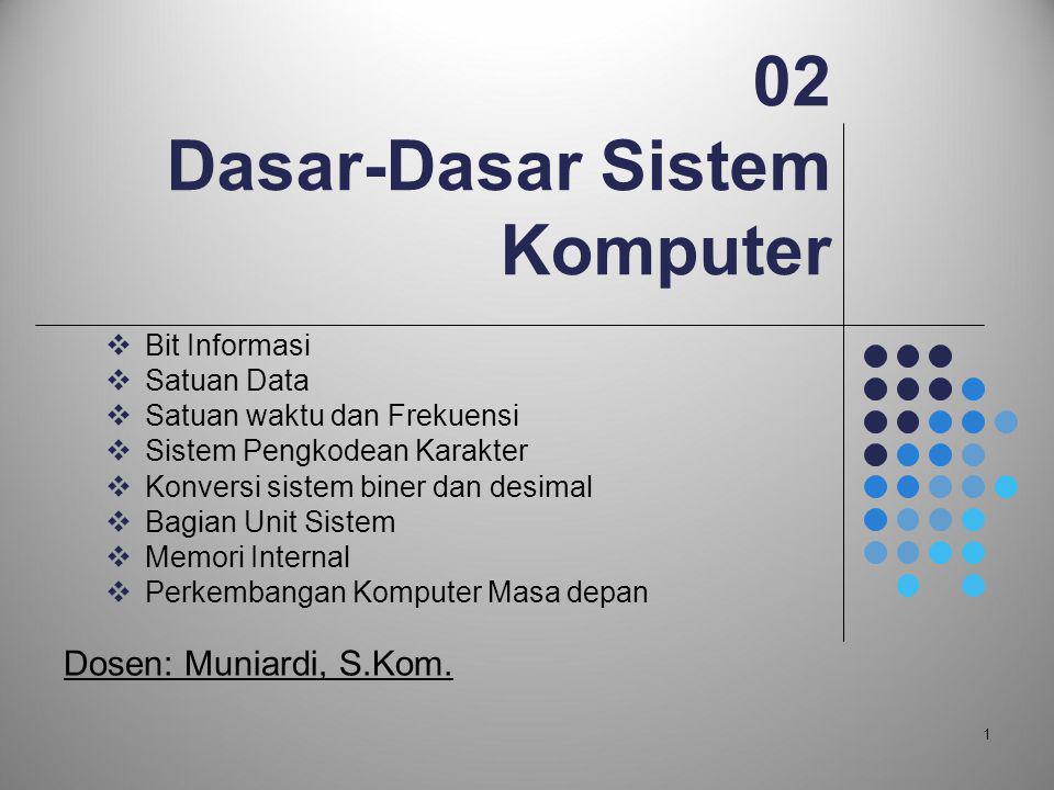 02 Dasar-Dasar Sistem Komputer
