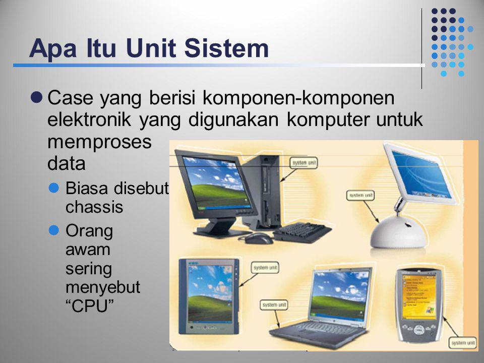 Apa Itu Unit Sistem Case yang berisi komponen-komponen elektronik yang digunakan komputer untuk memproses data.