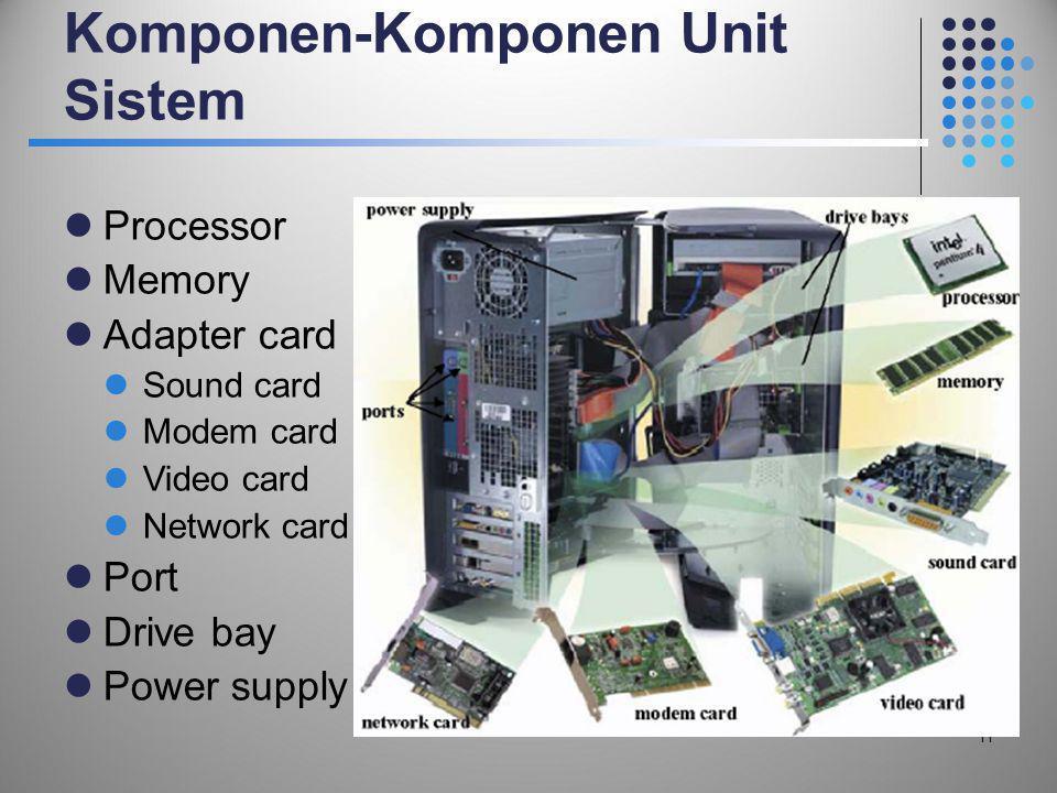 Komponen-Komponen Unit Sistem