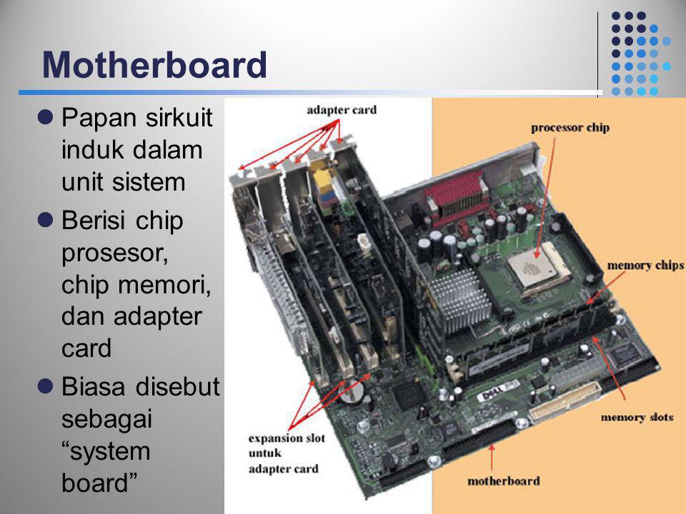 Motherboard Papan sirkuit induk dalam unit sistem