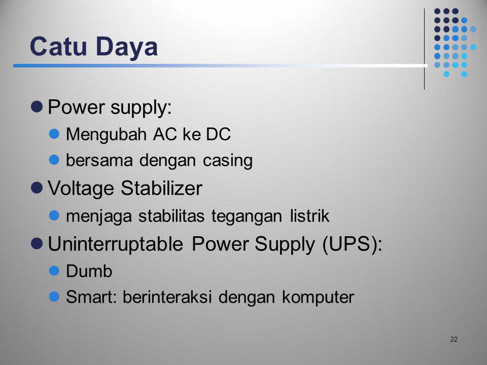 Catu Daya Power supply: Voltage Stabilizer