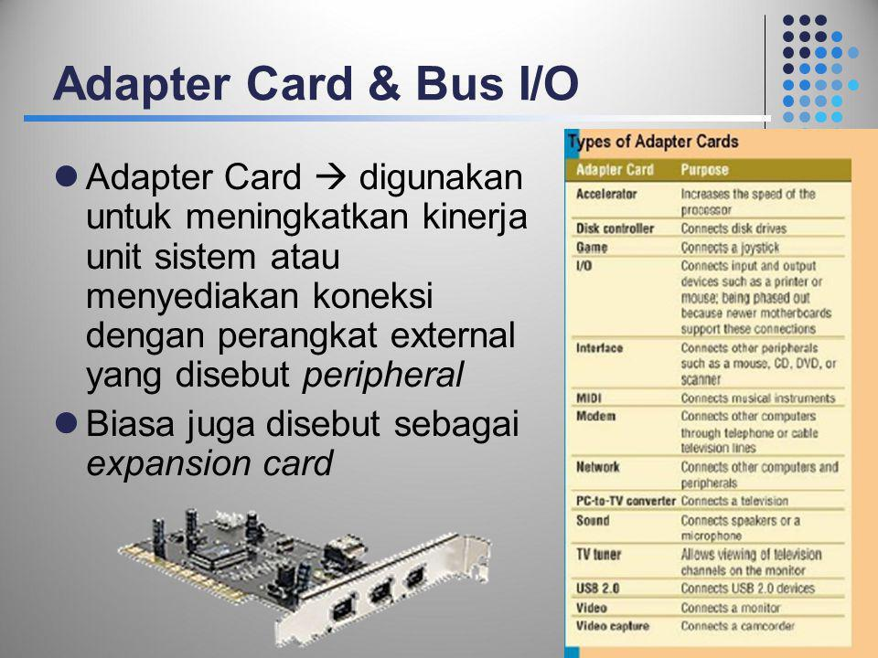 Adapter Card & Bus I/O