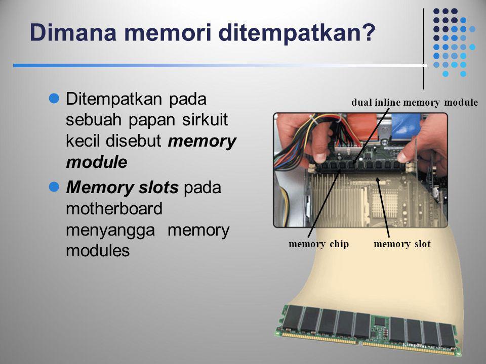 Dimana memori ditempatkan