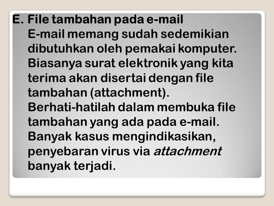 File tambahan pada e-mail