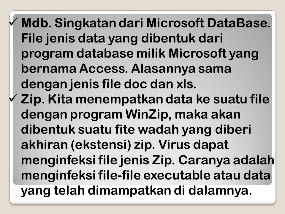 Mdb. Singkatan dari Microsoft DataBase