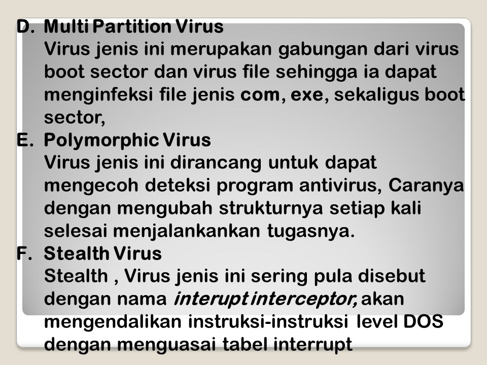 Multi Partition Virus