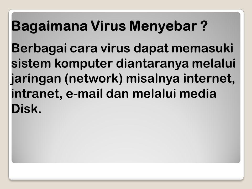 Bagaimana Virus Menyebar