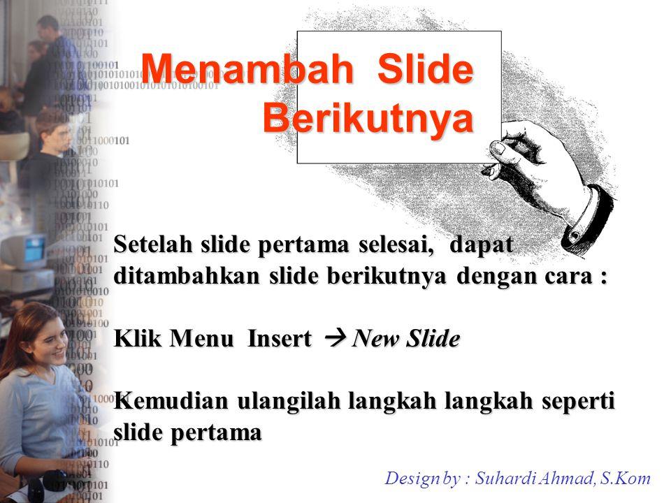 Menambah Slide Berikutnya
