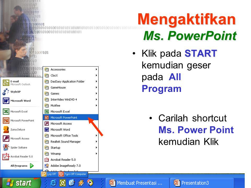 Mengaktifkan Ms. PowerPoint