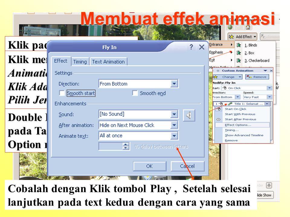 Membuat effek animasi Klik pada kotak text box