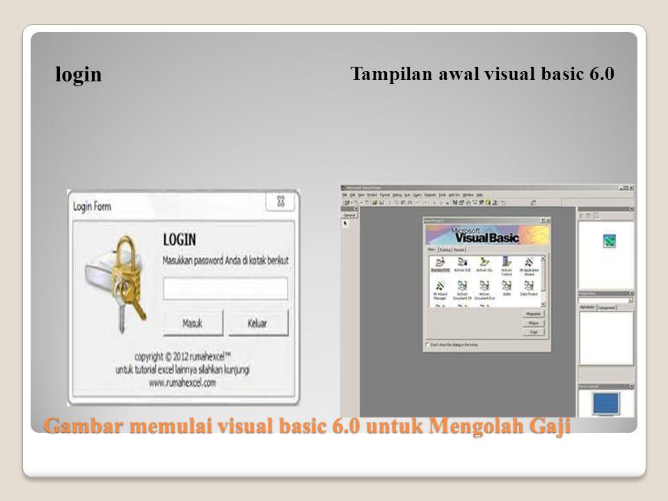 Gambar memulai visual basic 6.0 untuk Mengolah Gaji