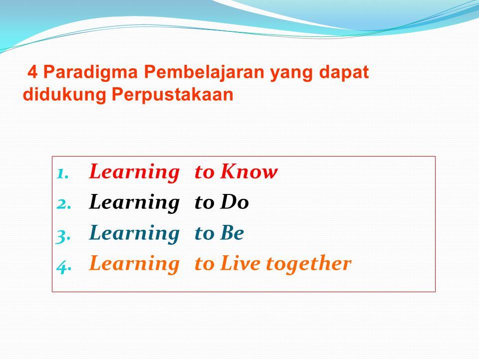 4 Paradigma Pembelajaran yang dapat didukung Perpustakaan