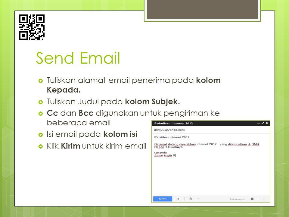 Send Email Tuliskan alamat email penerima pada kolom Kepada.