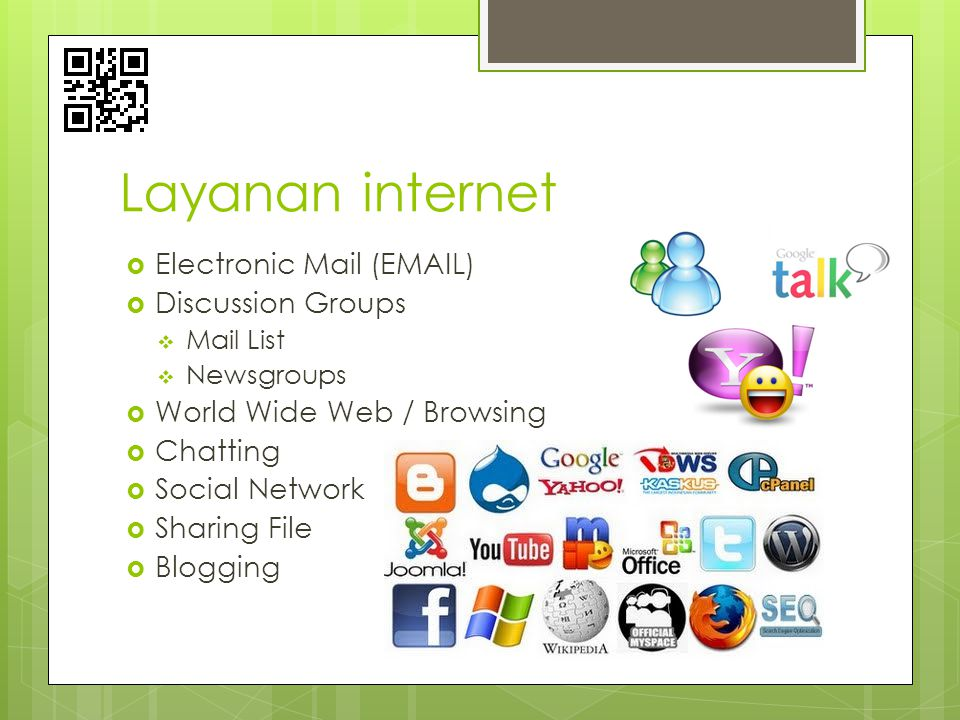 Layanan internet Electronic Mail ( ) Discussion Groups
